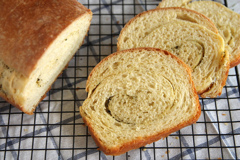 Buttery Garlic and Herb Swirl Bread