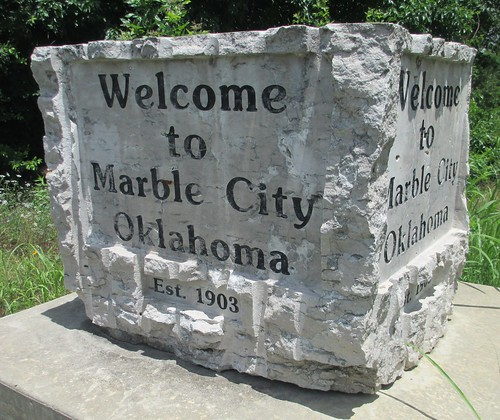 Welcome to Marble City Sign (Marble City, Oklahoma)