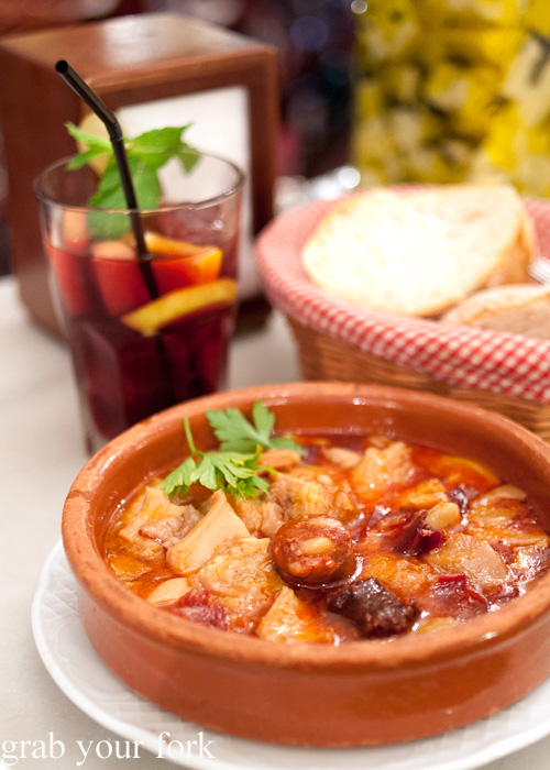 Callos a la Madrilena Madrid-style tripe with spicy sausage and black pudding from La Perejila tapas bar in Madrid, Spain