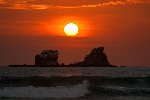 ocean sunset canon seaside ecuador waves ayampe manabiprovince