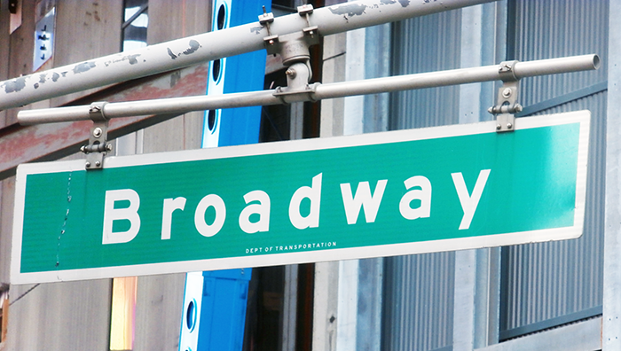 NYC Broadway sign