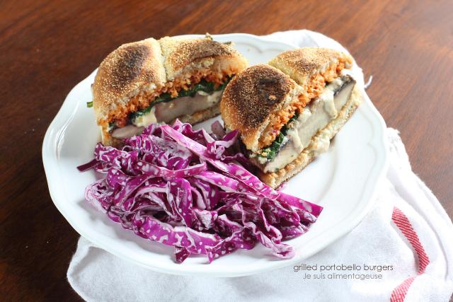 Grilled Portobello Mushroom Burgers | Je suis alimentageuse
