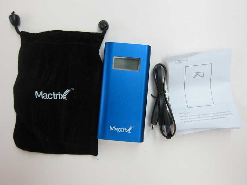 Mactrix Dual 5200 Portable Battery - Packaging Contents