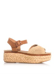 robert clergie ardan leather raffia flatform sandals