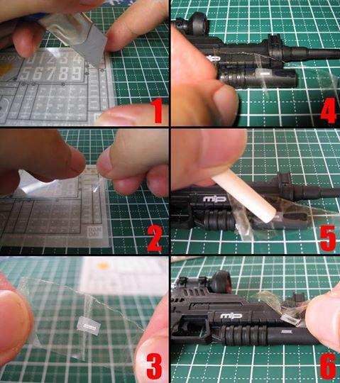 Cách sử dụng Decal cà khi chơi Gundam-Gunpla