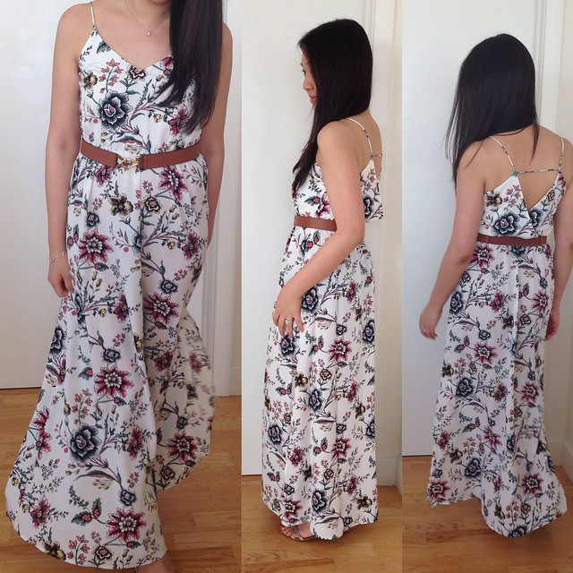 Wallpaper floral maxi dress