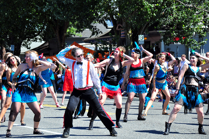 Dancers at 2014 Solstice Parade in Fremont, Seattle, Washington