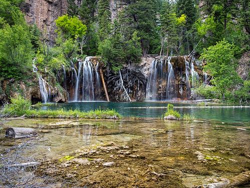 water landscape waterfall colorado glenwoodsprings hanginglake