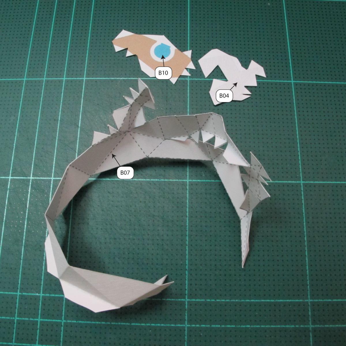 วิธีทำโมเดลกระดาษของเล่นคุกกี้รัน คุกกี้รสพ่อมด (Cookie Run Wizard Cookie Papercraft Model) 002