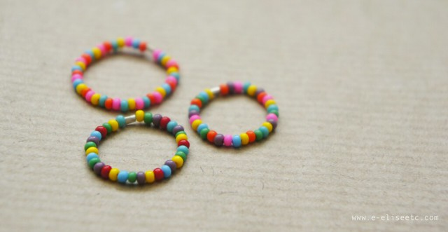 diy beaded rings crafts jewellery