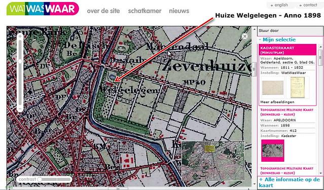 Landgoed Welgelegen, Apeldoorn anno 1898