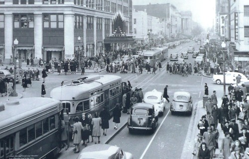 F Street NW, Washington, DC, 1940s