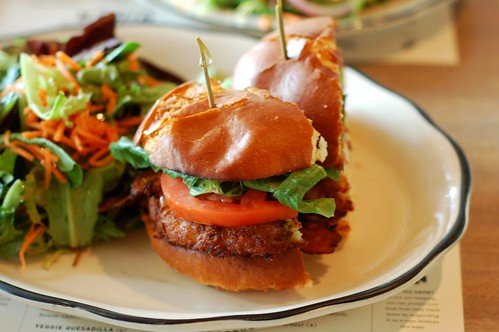 The special - crab cake BLT on a brioche bun by Eve Fox, The Garden of Eating copyright 2014