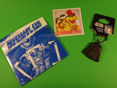July 2014 Loot Crate: Villains DVD & keychain