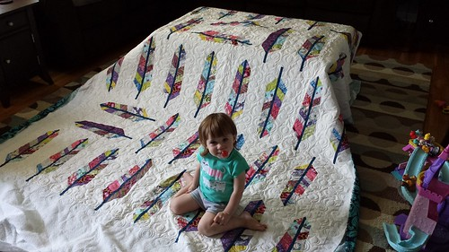 Allison's Feather Quilt 2014