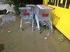 Trolleys after the rain
