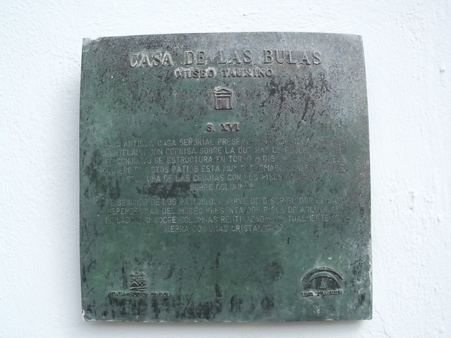Photo of Casa de las Bulas Museo Taurino bronze plaque