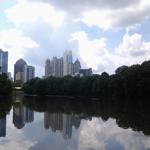 View from the Piedmont Park reservoir. #Atlanta