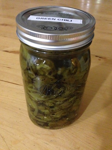 Fermenting Roasted Green Chilis by mikey and wendy