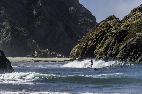 Surfing in Big Sur by Geoff Livingston