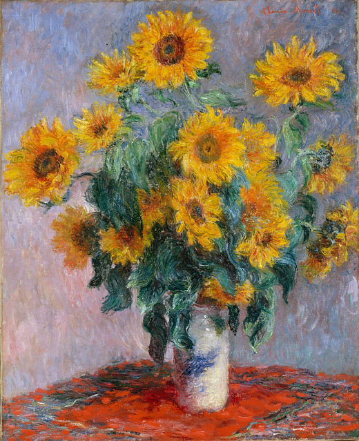 Bouquet of Sunflowers by Claude Monet, 1881