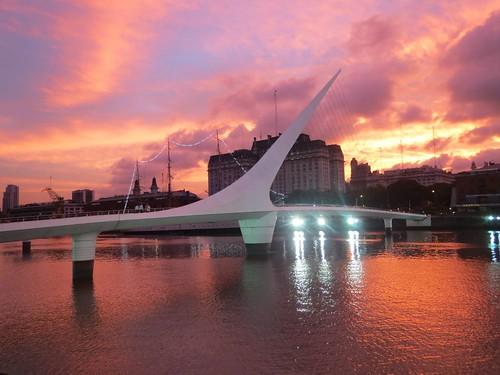 sky sunrise puente atardecer buenosaires cielo puertomadero puentedelamujer