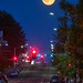 Super Moon over a small town by CORDAN