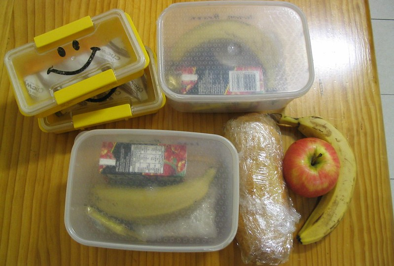 Packed lunch, August 2004