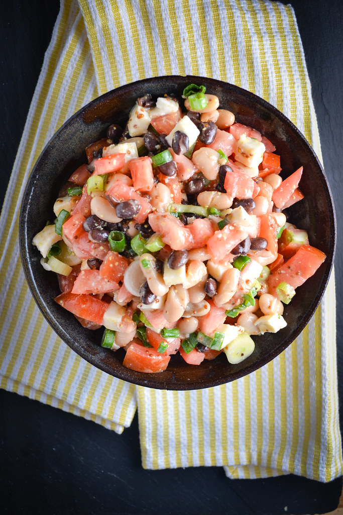 Black and White Bean Salad with Tomato and Fresh Mozzarella | Things I Made Today