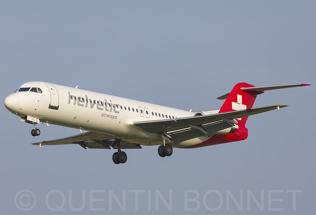 Helvetic Airways Fokker F100 HB-JVC