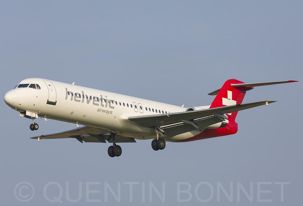 Helvetic Airways Fokker F100 HB-JVC