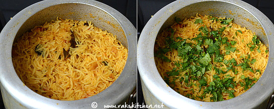 how to make soya chunks biryani step 12