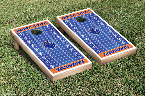 Boise State University Broncos Cornhole Game Set Football Field