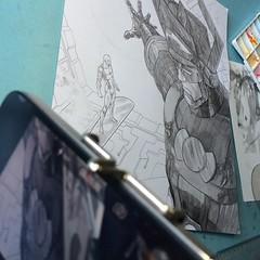 Wip: making of sendo gravado! #silversurfer #galactus