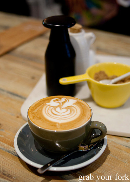 Double shot flat white coffee at Hardware Societe in Melbourne