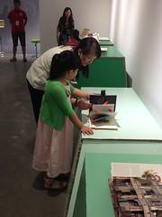 Visitors inspect a David Carter book!