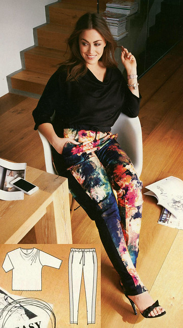 Burda-August-2014 Plus Top and Track Pants