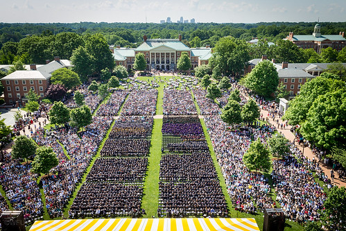 Commencement ceremony on Hearn Plaza