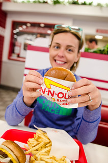 Melissa at the In and Out Burger