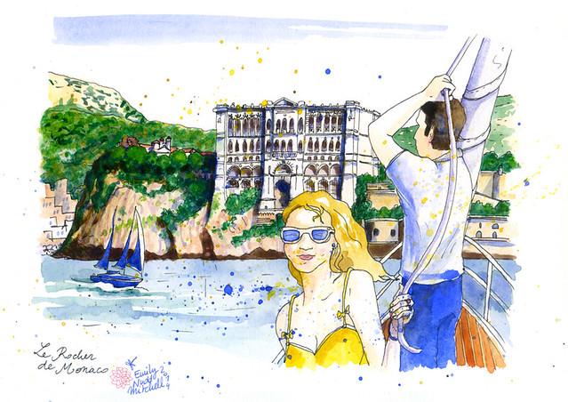 Illustrations pour Marie Claire Russie Mai 2014 - Monaco