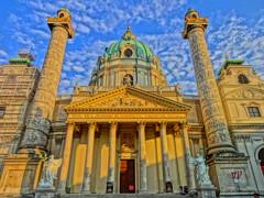 Wien, 4. Bezirk, Karlskirche, chiesa di San Carlo Borromeo, Iglesia de San Carlos Borromeo (Viena), Église Saint-Charles-Borromée (Vienne), St. Charles's Church, Vienna (Karlsplatz)