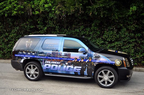 Orlando police graphics wrap on SUV by TechnoSigns