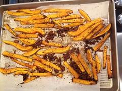 carrot, vegetable, produce, food, potato wedges, dish,