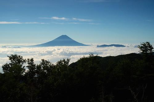 南アルプスより富士