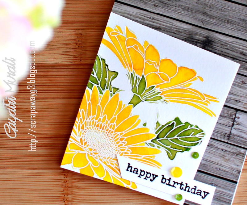 Happy Birthday card closeup!