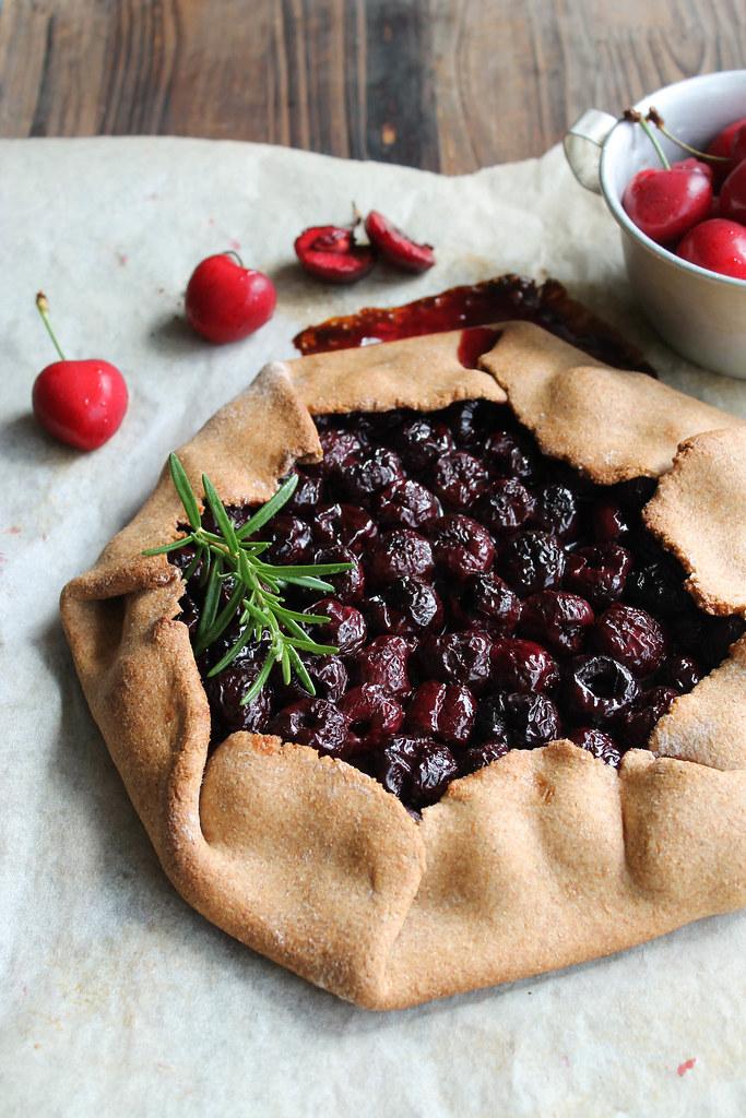 Recette tarte rustique aux cerises