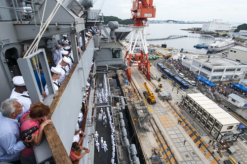 YOKOSUKA, Japan - George Washington Carrier Strike Group (GWCSG) returned to its forward-operating location at Fleet Activities Yokosuka after completing a three-month patrol of the 7th Fleet area of operations.