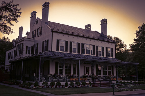 United States Military Academy West Point Superintendent's Quarters (1820)  Sunset HDR 6X4