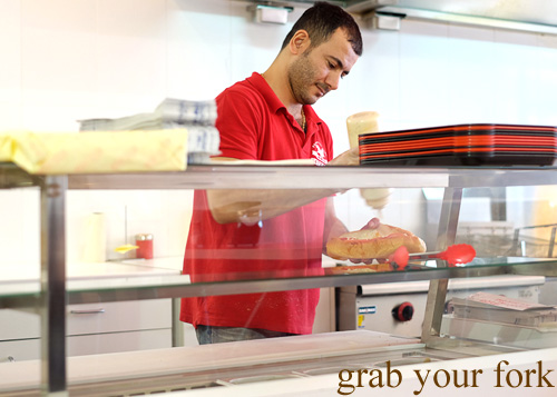 Sandwich counter at Aria Persian Fast Food, Merrylands