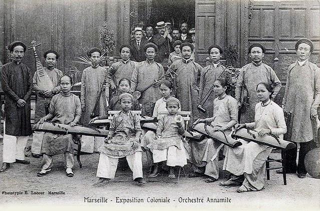 Marseille - Exposition Coloniale - Orchestre Annamite - Ban nhạc tài tử Nam Kỳ tham dự Đấu xảo Thuộc địa Marseille 1906
